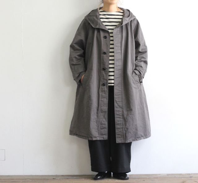 HTS NHT1701CL COTTON LINEN HOODED COAT フードコート