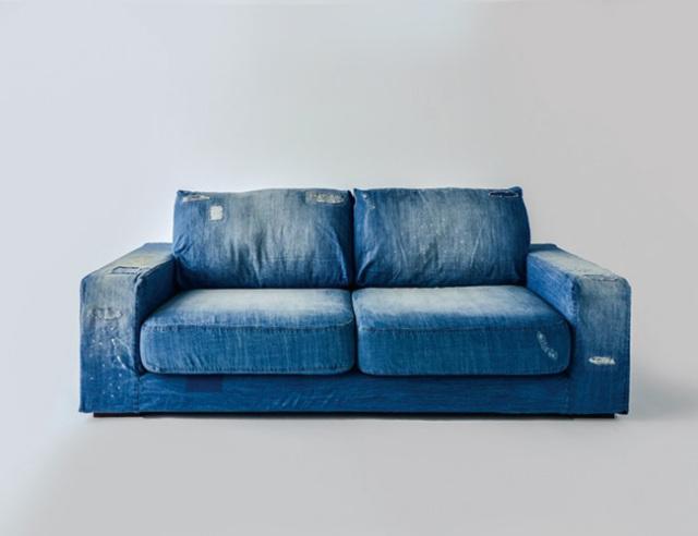 journal standard Furniture ジャーナルスタンダードファニチャー FRANKLIN SOFA Damage DENIM 2P フランクリン ソファ ダメージ デニム 2P