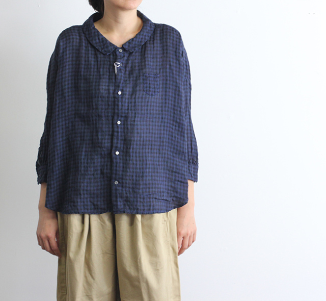 SALE20%OFF ordinary fits オーディナリーフィッツ レディース BARBER SHIRTS check バーバーシャツ チェック OL-S074C