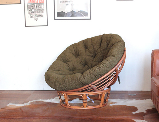 ACME FURNITURE アクメファニチャー WICKER EASY CHAIR ウィッカーイージーチェア カーキ