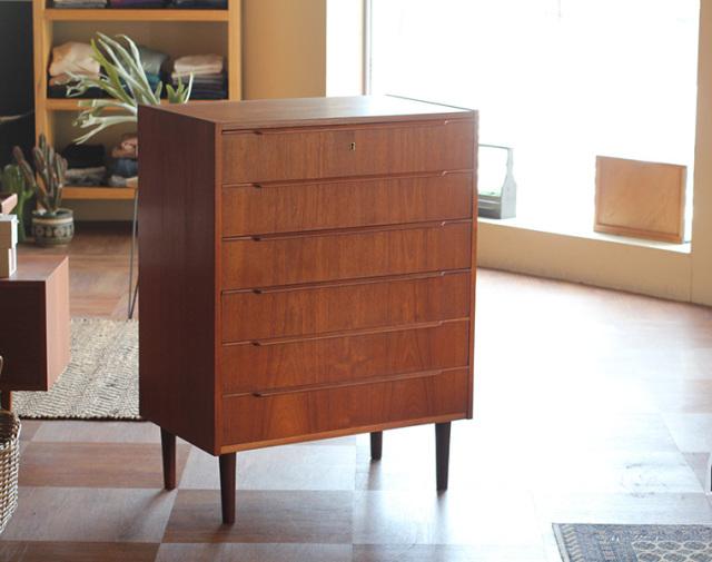 デンマーク ヴィンテージ チェスト H950 W740 北欧家具 中古家具