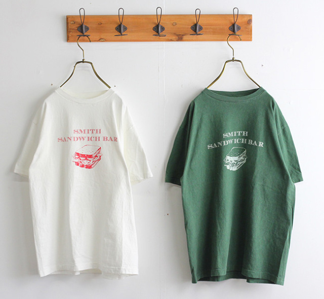 ordinary fits オーディナリーフィッツ プリントTシャツ PRINT-T SMITH SANDWICH BAR OF-C018