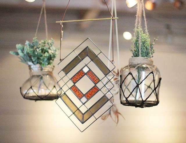 Chimayo Stained Glass Diamond panel  チマヨステンドグラス ダイヤモンドパネル