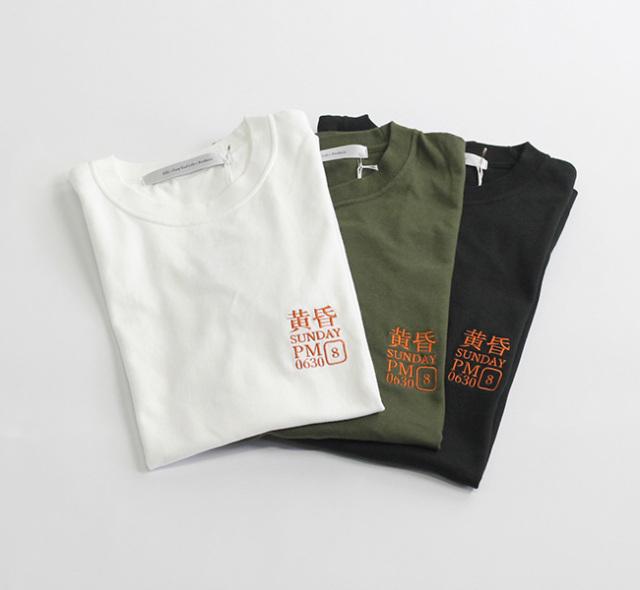 EEL Products イール プロダクツ 黄昏サンデー 刺繍Tシャツ