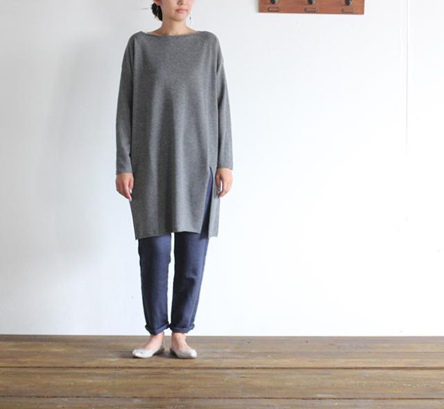 evam eva  エヴァムエヴァ light wool tunic