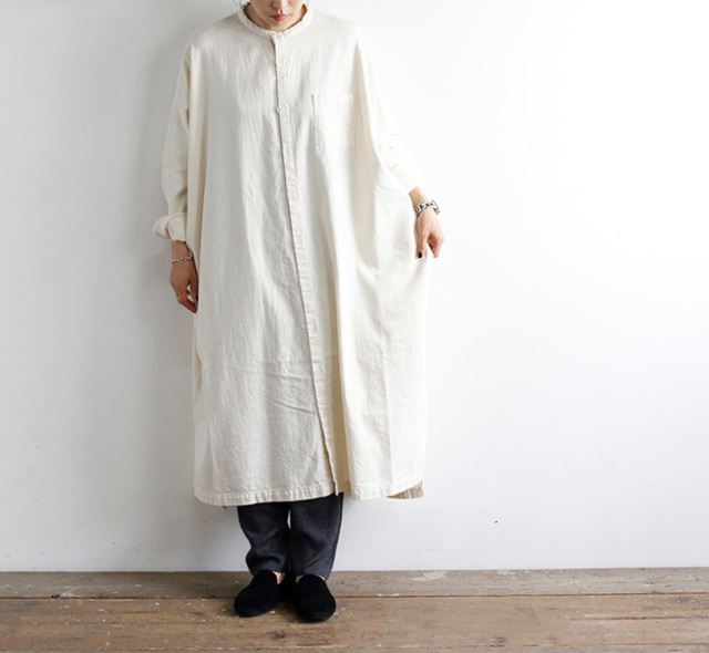 ordinary fits オーディナリーフィッツ スタンドカラーワークワンピース STAND COLLOR WORK ONEPIECE OF-O032
