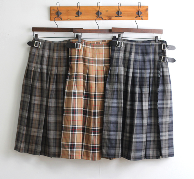 O'NEIL OF DUBLIN ラップスカート NOD0853 WORSTED WOOL LOW WAIST PLEATS WRAP SKIRT BY NARUMI