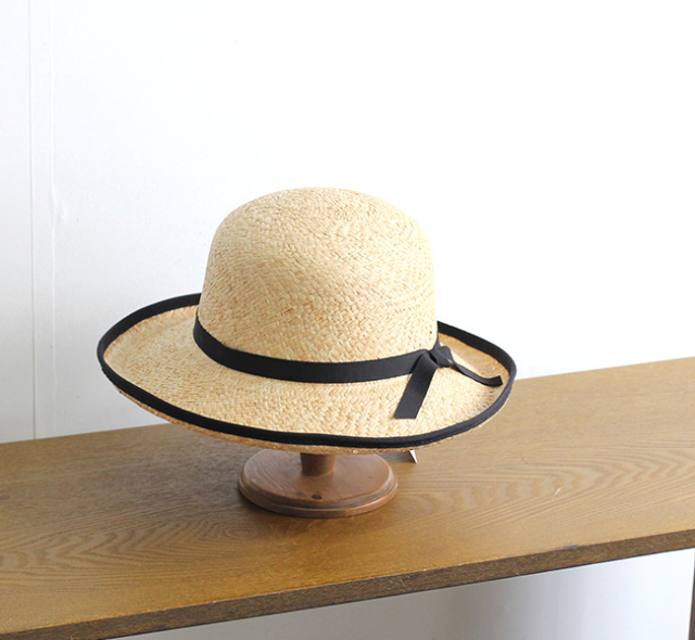 SALE20%OFF スリープスロープ ラフィア網代編みキャペリーヌ ストローハット