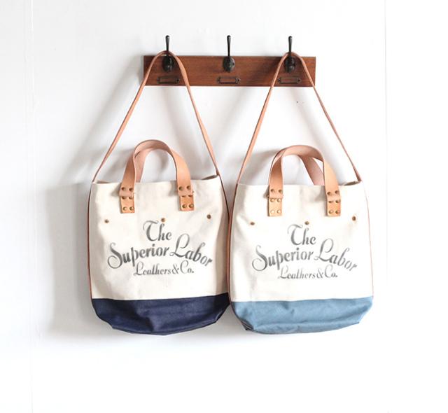 THE SUPERIOR LABOR シュペリオールレイバー canvas 2way bag キャンバス2WAY バッグ