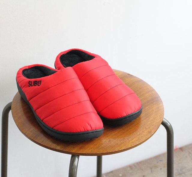 SUBU 冬のサンダル ポッピー レッド POPPY RED 2019AW
