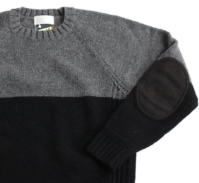 soglia ソリア LANDNOAH Sweater エルボーパッチセーター 2tone
