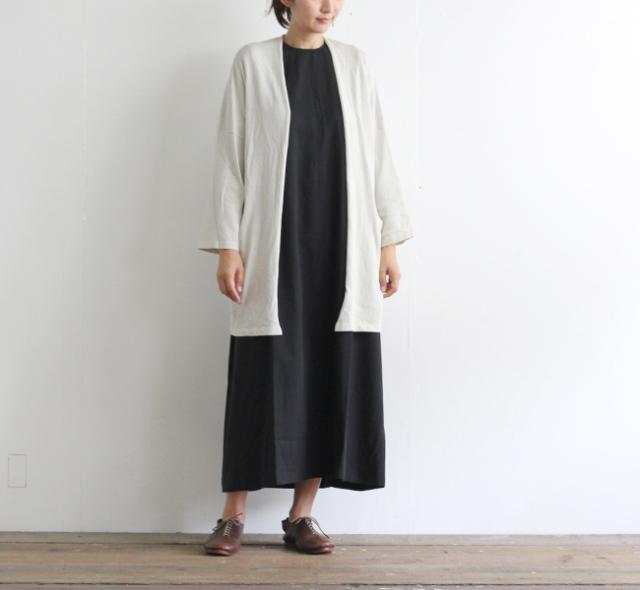 evam eva  エヴァムエヴァ コットン ラミーローブ cotton ramie robe E203K003