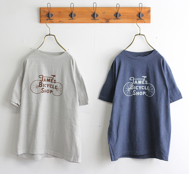 ordinary fits オーディナリーフィッツ プリントTシャツ PRINT-T JAMES BYCYCLE SHOP OF-C019