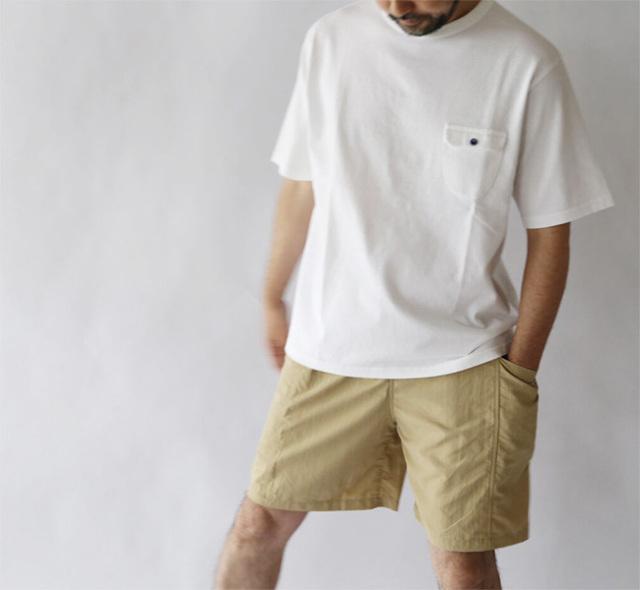 EEL Products イール プロダクツ 陶器釦のポケTee Tシャツ