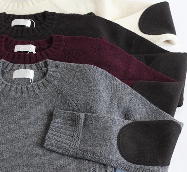 soglia ソリア LANDNOAH Sweater エルボーパッチセーター