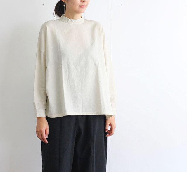 evam eva  エヴァムエヴァ コットン スタンドカラースクエアシャツ cotton stand collar square shirts E203T008
