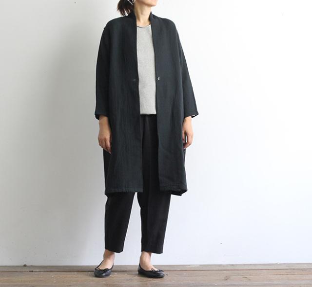 evam eva  エヴァムエヴァ コットンウールローブ cotton wool robe V213T910