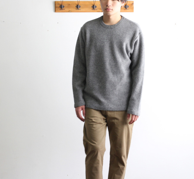 SALE30%OFF BETTER FELTED WOOL CREW NECK PULL-OVER BTRK1805 メンズ