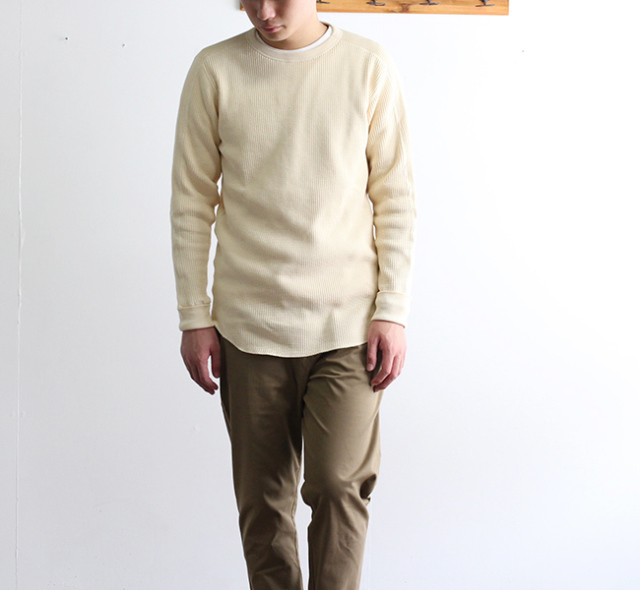 SALE40%OFF HEALTH KNIT   SHW ARMY CREWNECK LS 聖林公司別注