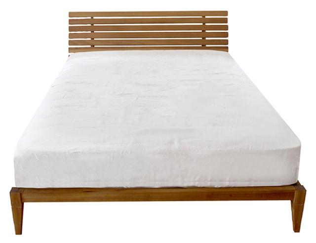a. depeche アデペシュ Mnol slit-back bed semi-double ムノル スリット-バック ベッド セミダブル