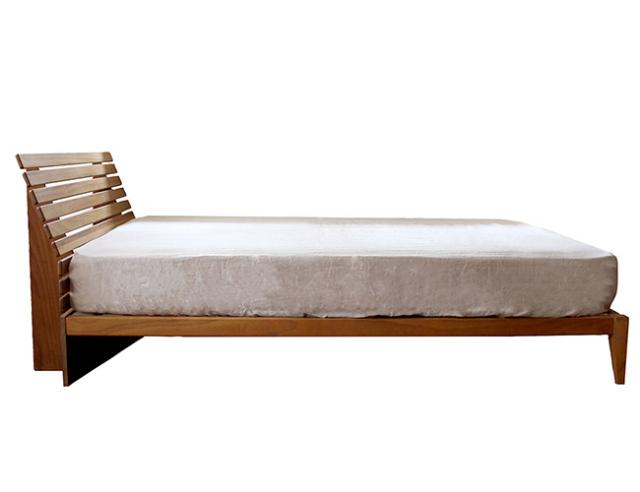 a. depeche アデペシュ Mnol slit-back bed double ムノル スリット-バック ベッド ダブル