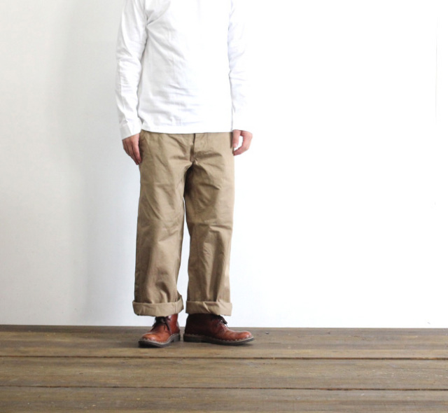 SALE20%OFF ordinary fits オーディナリーフィッツ NEW PARK TROUSER ワイドチノトラウザー