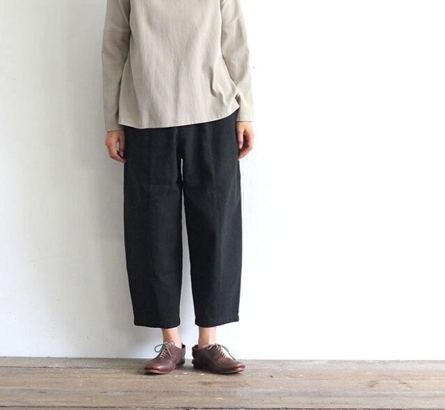 evam eva  エヴァムエヴァ コットンシルク クロップドパンツ cotton silk cropped pants E203T014