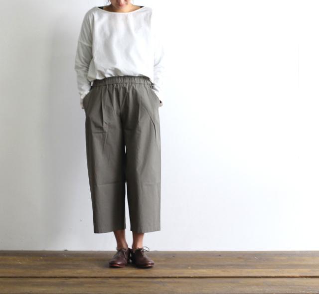 evam eva  エヴァムエヴァ wide easy pants
