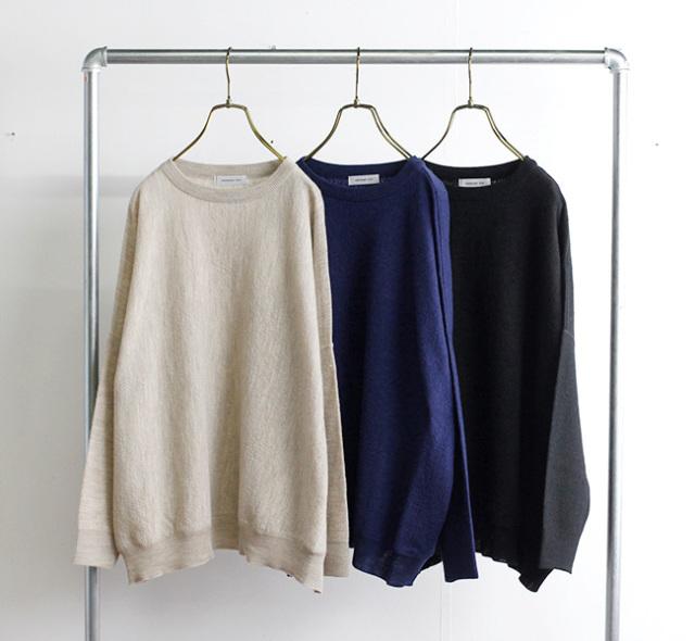 ordinary fits オーディナリーフィッツ バーバーニット BARBER KNIT garment wash OF-N026