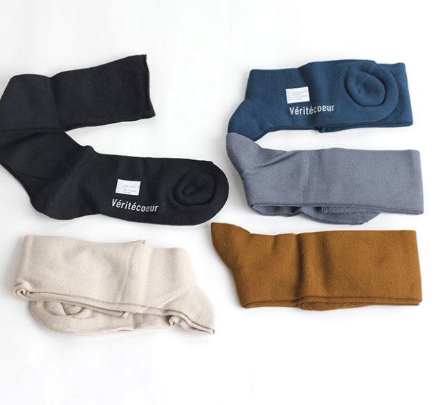 Veritecoeur ヴェリテクール VCS-37 Roll-hem long Socks