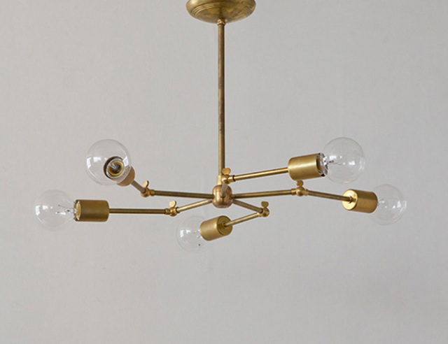 ACME FURNITURE アクメファニチャー SOLID BRASS LAMP 5ARM ソリッドブラスランプ5アーム