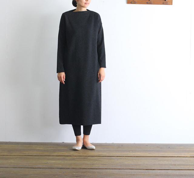 evam eva  エヴァムエヴァ wool one-piece