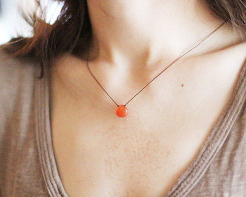 Smooth Stone Necklace by SOURCE