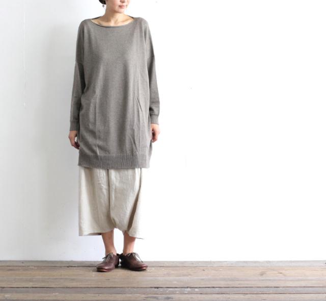 evam eva  エヴァムエヴァ コットンカシミアチュニック cotton cashmere tunic V203K901