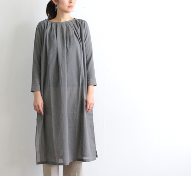 evam eva  エヴァムエヴァ tuck long one-piece E191T080