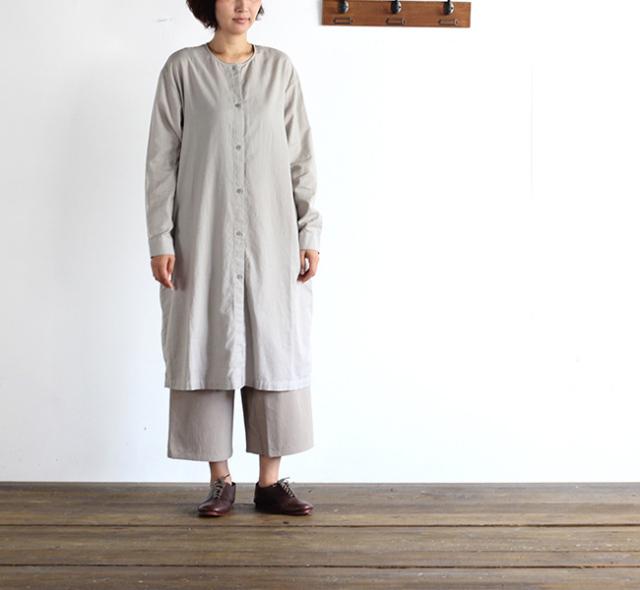 evam eva  エヴァムエヴァ cotton cashmere shirt robe