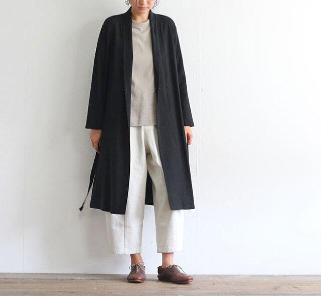 evam eva  エヴァムエヴァ シルクリネン ローブ silk linen robe E203T023