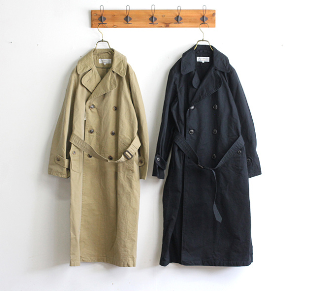 SALE20%OFF ARMEN アーメン トレンチコート NMPA1701ST DOUBLE BREASTED COAT(FULL SLEEVE)