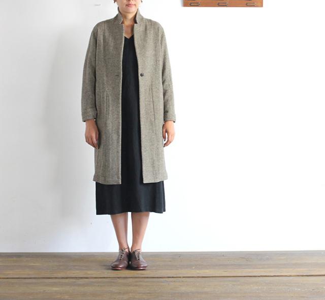 evam eva  エヴァムエヴァ wool long jacket