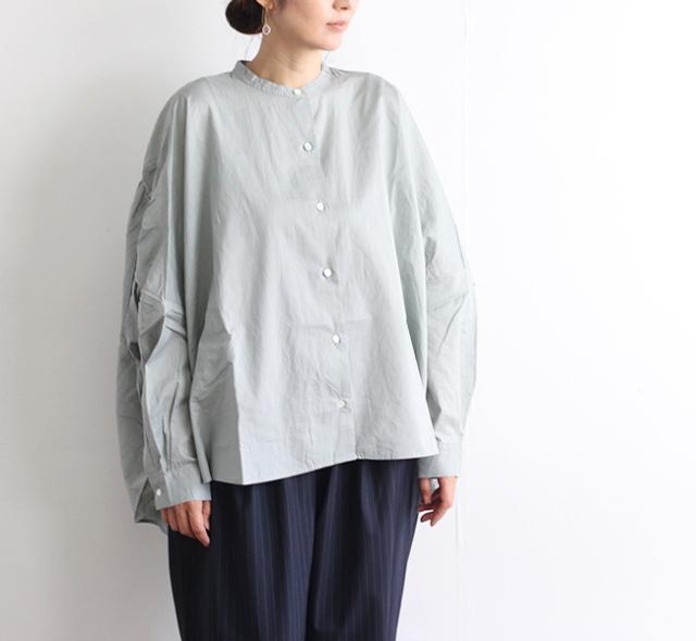 mizuiro-ind  ミズイロインド バックギャザーワイドシャツ 1-238975