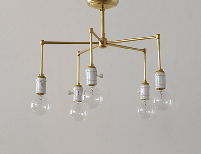 ACME FURNITURE アクメファニチャー SOLID BRASS LAMP 5ARM Porcelain ソリッドブラスランプ5アームポーセリン