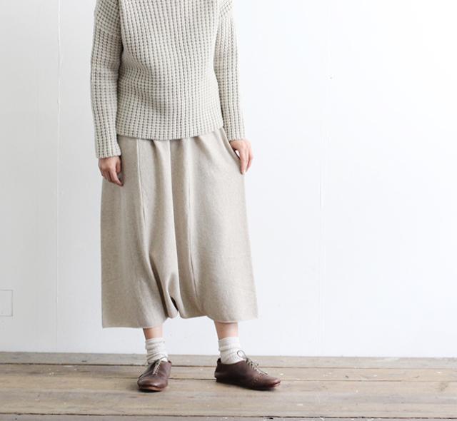 evam eva  エヴァムエヴァ wool sarrouel pants E193K105