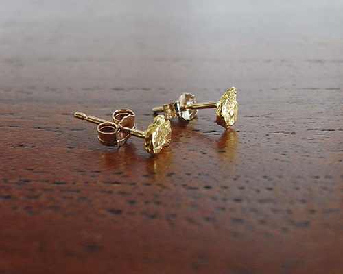 Gold Nugget Earrings - Small by SOURCE