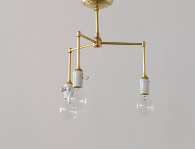 ACME FURNITURE アクメファニチャー SOLID BRASS LAMP 3ARM Porcelain ソリッドブラスランプ3アームポーセリン