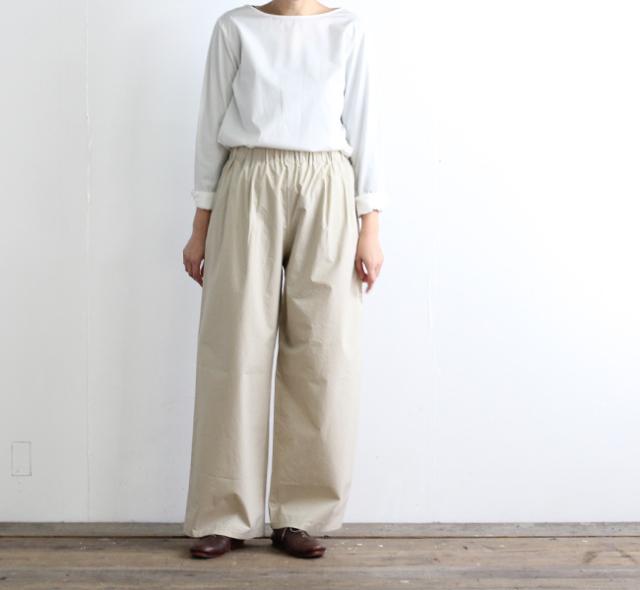 evam eva  エヴァムエヴァ gather wide pants E191T029