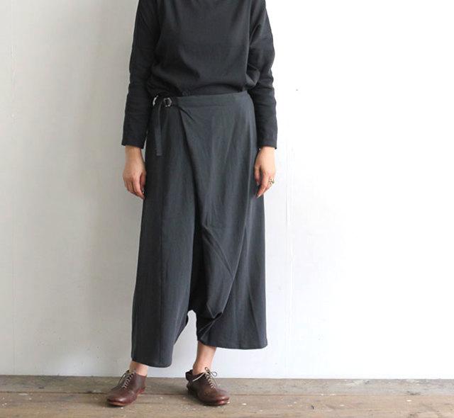 evam eva  エヴァムエヴァ  コットンダブルラップサルエルパンツ cotton double wrap sarrouel pants E201T121