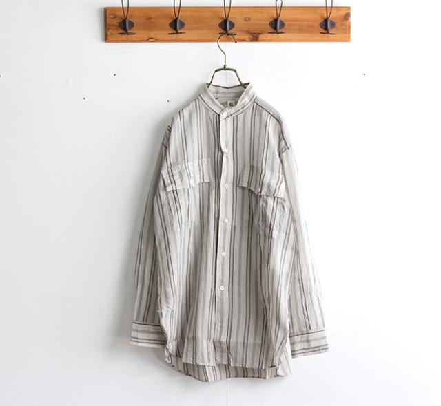 キャプテンサンシャイン KAPTAIN SUNSHINE Stand Collar Safari Shirt スタンドカラーサファリシャツ KS21SSH12