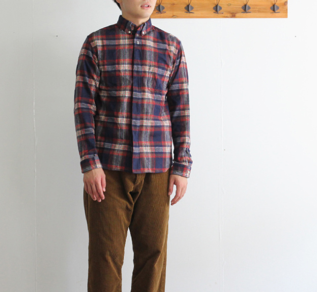 nisica ニシカ  ボタンダウンシャツ チェック NIS-836