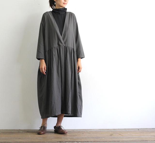 evam eva  エヴァムエヴァ ジョーゼットローブ georgette robe V203T906