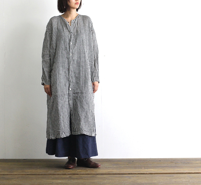 ordinary fits オーディナリーフィッツ レディース COVER ONEPIECE カバーワンピース チェック  OL-O047C